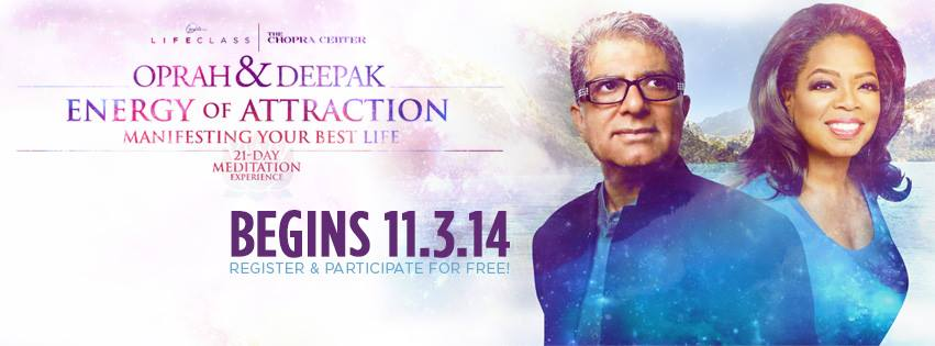 Gratis 21-Dagars Meditations-Utmaning Energy of Attraction med Oprah Winfrey och Deepak Chopra