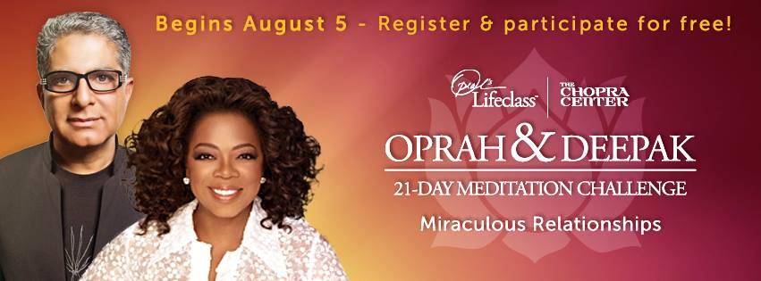 21-day Meditation Challenge Deepak Chopra Oprah Winfrey